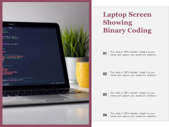 Laptop Screen Showing Binary Coding Ppt PowerPoint Presentation Styles Rules PDF