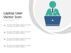 Laptop User Vector Icon Ppt PowerPoint Presentation Model Mockup