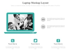 Laptop With Business Team Pictures Powerpoint Slides