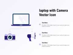 Laptop With Camera Vector Icon Ppt PowerPoint Presentation Slides Introduction