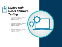 Laptop With Gears Software Testing Ppt PowerPoint Presentation Infographic Template Sample