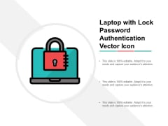 Laptop With Lock Password Authentication Vector Icon Ppt Powerpoint Presentation Icon Summary