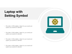 Laptop With Setting Symbol Ppt PowerPoint Presentation Layouts Elements