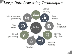 Large Data Processing Technologies Ppt PowerPoint Presentation Microsoft
