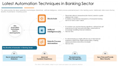 Latest Automation Techniques In Banking Sector Develop Organizational Productivity By Enhancing Business Process Portrait PDF