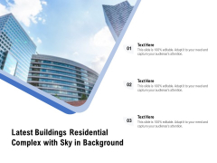 Latest Buildings Residential Complex With Sky In Background Ppt PowerPoint Presentation Slides Download PDF