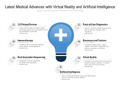 Latest Medical Advances With Virtual Reality And Artificial Intelligence Ppt PowerPoint Presentation Gallery Slides
