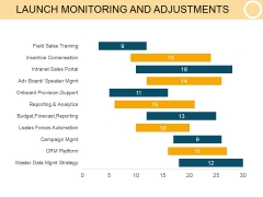 Launch Monitoring And Adjustments Template 1 Ppt PowerPoint Presentation Layout