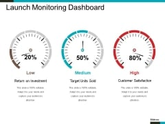 Launch Monitoring Dashboard Ppt PowerPoint Presentation Gallery Files