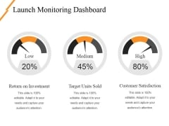 Launch Monitoring Dashboard Ppt PowerPoint Presentation Ideas Layouts