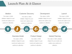 Launch Plan At A Glance Template 1 Ppt PowerPoint Presentation Styles