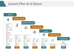 Launch Plan At A Glance Template 2 Ppt PowerPoint Presentation Slides