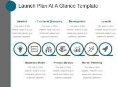 Launch Plan At A Glance Template Ppt PowerPoint Presentation Designs Download