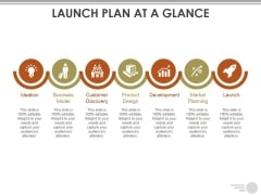Launch Plan At A Glance Template Ppt PowerPoint Presentation Summary Design Inspiration