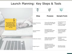 Launch Planning Key Steps And Tools Ppt PowerPoint Presentation Infographic Template Professional