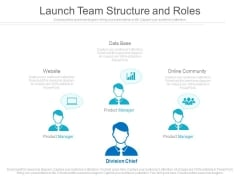 Launch Team Structure And Roles Ppt Slides