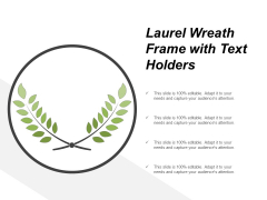 Laurel Wreath Frame With Text Holders Ppt PowerPoint Presentation Layouts Introduction