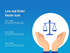 Law And Order Vector Icon Ppt PowerPoint Presentation Gallery Picture PDF