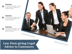 Law Firm Giving Legal Advice To Customers Ppt PowerPoint Presentation File Inspiration PDF