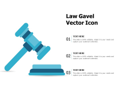 Law Gavel Vector Icon Ppt PowerPoint Presentation Model Show