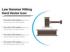 Law Hammer Hitting Hard Vector Icon Ppt PowerPoint Presentation File Demonstration PDF