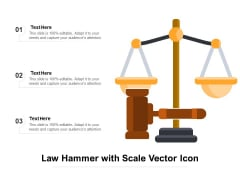 Law Hammer With Scale Vector Icon Ppt PowerPoint Presentation Gallery Layouts PDF