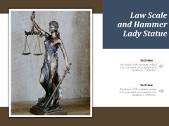 Law Scale And Hammer Lady Statue Ppt PowerPoint Presentation Infographic Template Files PDF