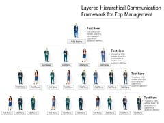 Layered Hierarchical Communication Framework For Top Management Ppt PowerPoint Presentation Gallery Images PDF