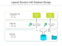 Layered Structure With Database Storage Ppt PowerPoint Presentation Gallery Graphics PDF
