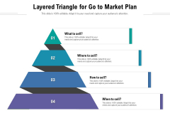 Layered Triangle For Go To Market Plan Ppt PowerPoint Presentation Gallery Example Introduction PDF