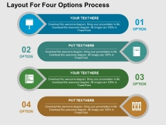 Layout For Four Options Process Powerpoint Templates