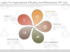 Layout For Organizational Efficiency And Effectiveness Ppt Icon
