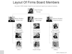 Layout Of Firms Board Members Ppt PowerPoint Presentation Professional