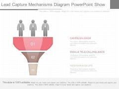 Lead Capture Mechanisms Diagram Powerpoint Show