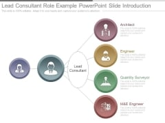 Lead Consultant Role Example Powerpoint Slide Introduction