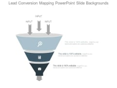 Lead Conversion Mapping Powerpoint Slide Backgrounds