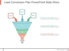 Lead Conversion Plan Powerpoint Slide Show