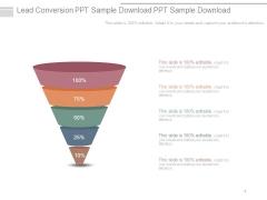 Lead Conversion Ppt Sample Download Ppt Sample Download