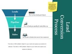 Lead Conversion Process Ppt PowerPoint Presentation Styles Slides