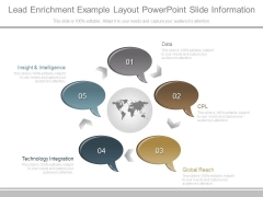 Lead Enrichment Example Layout Powerpoint Slide Information