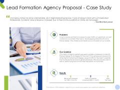 Lead Formation Agency Proposal Case Study Ppt Show Slides PDF