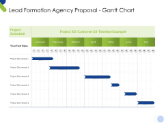 Lead Formation Agency Proposal Gantt Chart Ppt Summary Infographics PDF