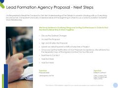 Lead Formation Agency Proposal Next Steps Ppt Summary Microsoft PDF