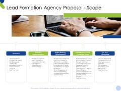 Lead Formation Agency Proposal Scope Ppt Summary Ideas PDF
