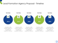 Lead Formation Agency Proposal Timeline Ppt Icon Infographics PDF