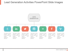 Lead Generation Activities Powerpoint Slide Images