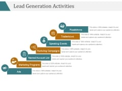 Lead Generation Activities Ppt PowerPoint Presentation Graphics