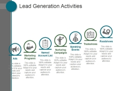 Lead Generation Activities Ppt PowerPoint Presentation Guide