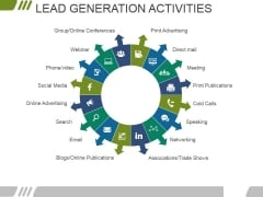 Lead Generation Activities Ppt PowerPoint Presentation Outline Aids