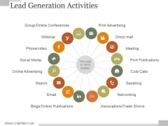 Lead Generation Activities Ppt PowerPoint Presentation Pictures